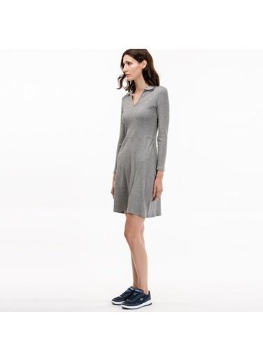 V Yaka Kısa Elbise-Lacoste